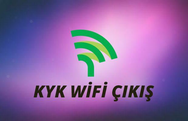 KYK Wifi Çıkış Yapma
